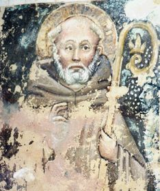 St Sylvester - 15th century fresco